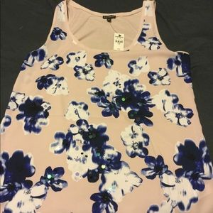 NWT Express Flower Top with Sequins